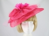 Hat Box Cerise Large Fascinator