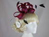 Hawkins Collection Two Tone Loops Headpiece in Hot Pink & Black