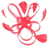 Aurora Collection Fascinator with Loops and Feathers in Hot Pink