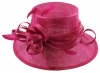 Elegance Collection Sinamay Loops Wedding Hat in Hot Pink
