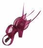 Elegance Collection Small Sinamay Clip Fascinator in Hot Pink