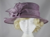 Elegance Collection Sinamay Leaves Occasion Hat in Hyacinth