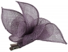 Elegance Collection Sinamay Small Leaves Fascinator in Hyacinth