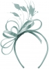 Elegance Collection Satin Loops Aliceband Fascinator in Ice Blue