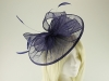 Failsworth Millinery Sinamay Disc Headpiece in Indigo
