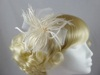 Biots and Beads Fascinator in Ivory