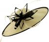 Failsworth Millinery Aliceband Saucer Headpiece in Ivory & Black