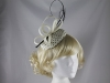Elegance Collection Spotted Quill Headpiece in Ivory & Black