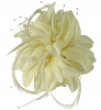 Aurora Collection Flower Fascinator in Ivory