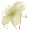 Aurora Collection Swirl & Biots Fascinator on aliceband in Ivory