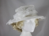 Elegance Collection Collapsible Organza Wedding Hat