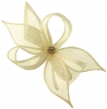 Elegance Collection Diamante Clip Fascinator in Ivory