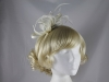 Elegance Collection Feathers and Loops Fascinator in Ivory