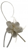 Elegance Collection Flower and Quill Headpiece in Ivory