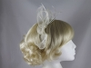Elegance Collection Sinamay Fascinator in Ivory