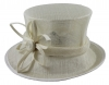 Elegance Collection Sinamay Flower Occasion Hat in Ivory
