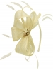 Elegance Collection Sinamay Headpiece Fascinator in Ivory