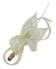 Elegance Collection Small Sinamay Clip Fascinator in Ivory