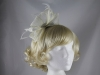 Elegance Collection Diamante and Loops Fascinator in Ivory