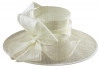 Failsworth Millinery Ascot Hat in Ivory
