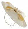 Failsworth Millinery Bow Disc in Ivory