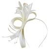 Failsworth Millinery Fascinator with Diamantes in Ivory