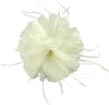 Failsworth Millinery Feather Fascinator in Ivory