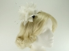 Failsworth Millinery Feather and Beads Fascinator in Ivory