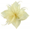 Failsworth Millinery Organza Leaves Fascinator in Ivory