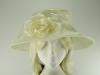 Failsworth Millinery Organza Wedding Hat in Ivory