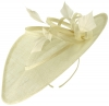 Failsworth Millinery Shaped Saucer Headpiece in Ivory