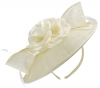 Failsworth Millinery Silk Rose Disc Headpiece in Ivory