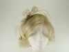 Failsworth Millinery Sinamay Fascinator in Ivory