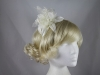 Flower Aliceband Fascinator in Ivory