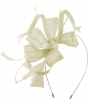 Max and Ellie Flower Fascinator in Ivory