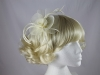 Swirl & Biots Fascinator on aliceband in Ivory