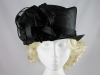 J.Bees Millinery Black Wedding Hat