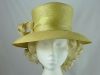 Jacques Vert Yellow Hat with Arrow Feathers