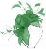 Max and Ellie Diamante Fascinator in Jade
