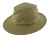 Failsworth Millinery Traveller Cotton Hat in Khaki