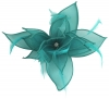 Failsworth Millinery Organza Petals Fascinator in Kingfisher