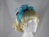 Failsworth Millinery Sinamay Fascinator in Kingfisher