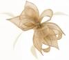 Failsworth Millinery Sinamay Diamante Clip Fascinator in Latte