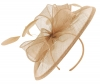 Failsworth Millinery Sinamay Disc Headpiece in Latte