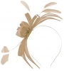 Failsworth Millinery Sinamay Fascinator in Latte