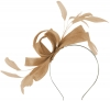 Failsworth Millinery Wide Loops Fascinator in Latte