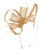 Max and Ellie Flower Fascinator in Latte