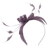 Failsworth Millinery Sinamay Fascinator in Lavender