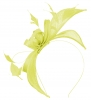 Failsworth Millinery Sinamay Fascinator in Lemon