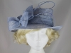 Hawkins Collection Quills Occasion Hat in Light Blue